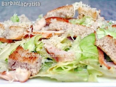 Salata Caesar cu pui reteta