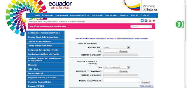 Diario personal de su nombre consulta de antecedentes for Ministerio del interior antecedentes