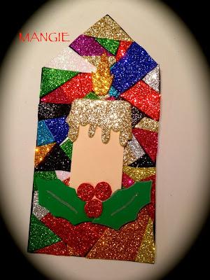 Mosaico goma eva purpurina