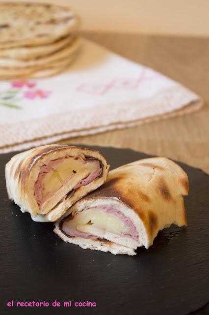 pan rápido a la plancha con embutido