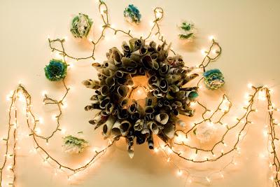 Wreath++Pom Poms+%25282%2529 - Easy DIY Holiday Decor