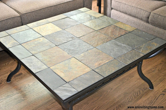 a square coffee table
