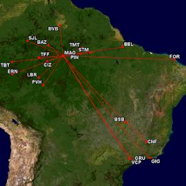 Voos de Manaus!
