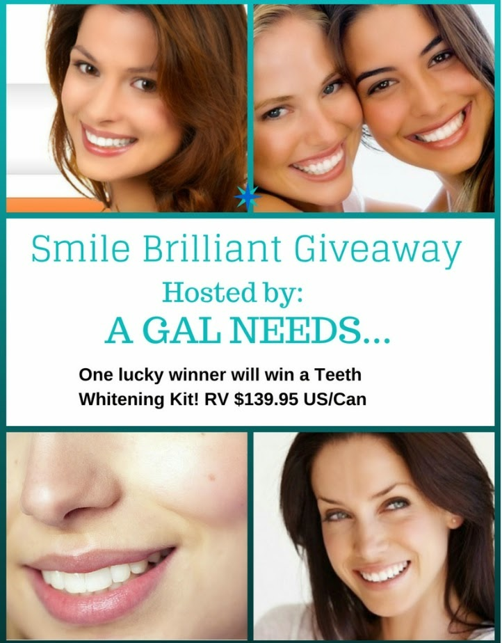 Enter the Smile Brilliant Giveaway. Ends 4/6.