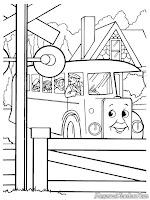 Download Kumpulan Gambar Kereta Untuk Diwarnai Oleh Anak-Anak