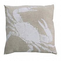 crab linen pillow