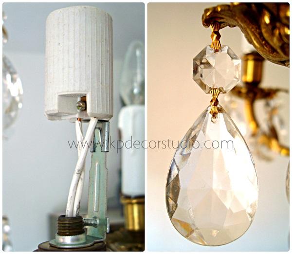 Comprar lámpara de techo con lágrimas restaurada en valencia