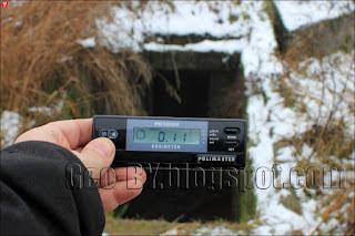 Измерение радиационного фона у ДОТ 29