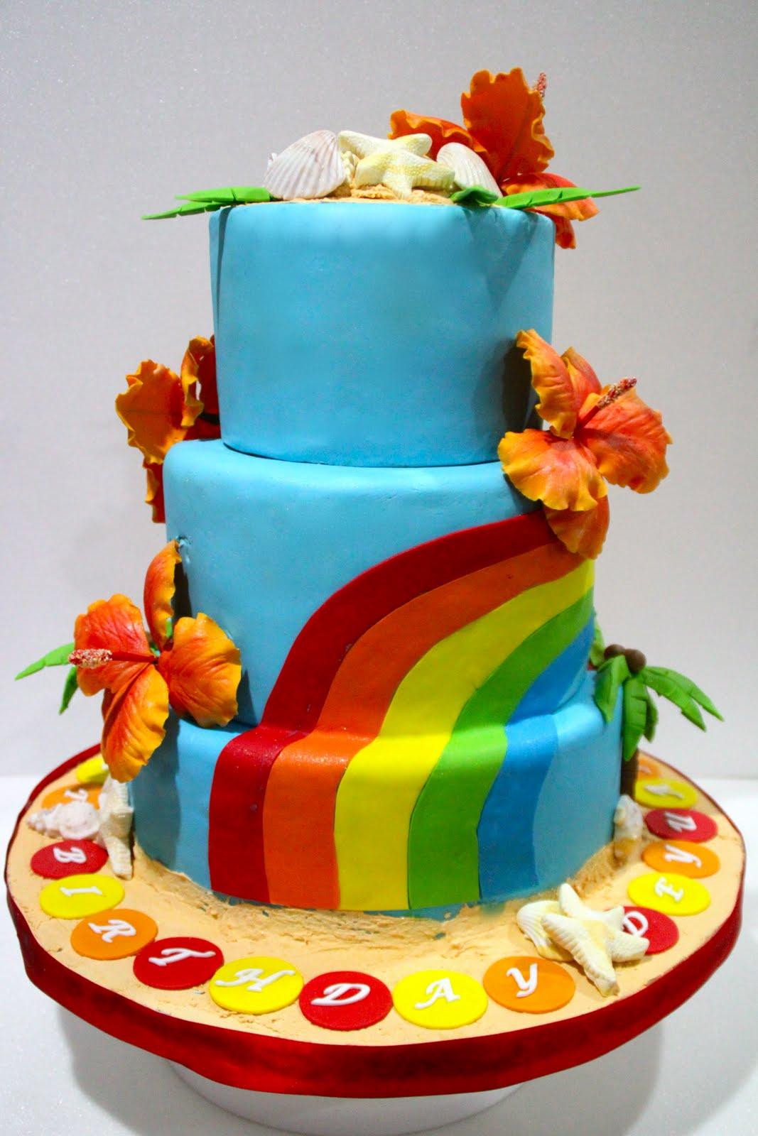 Celebrate With Cake Beach Themed 21st Birthday Cake
