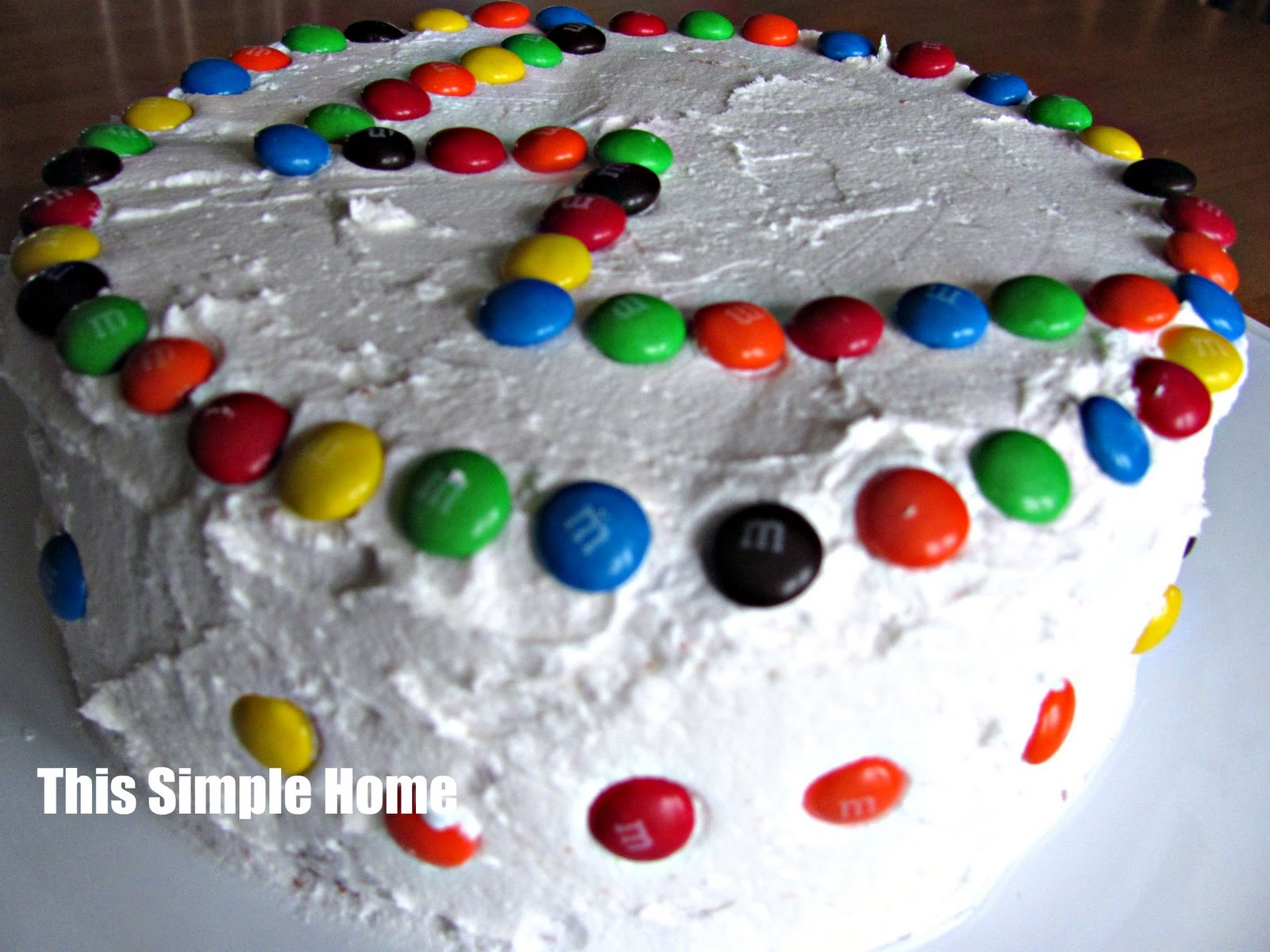 This simple home simple m m cake decoration for M m cake decoration