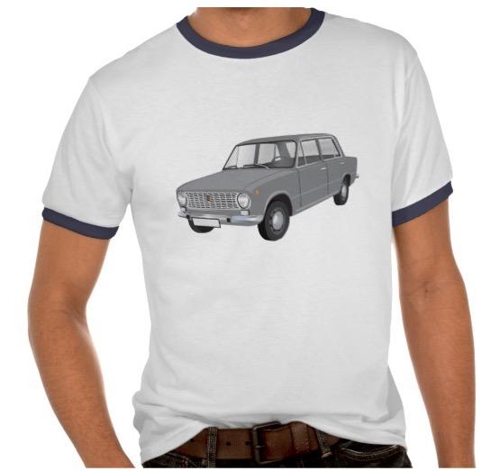 Fiat, 124, image, 60's, t-shirt, t-tröja