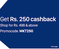 PayTM : Get Rs.250 cashback on Shopping of Rs.499- Buytoearn
