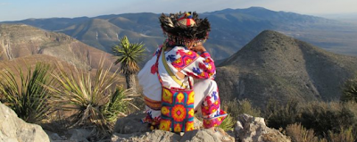 Huichol looking over the desert - photo by Tracy L. Barnett