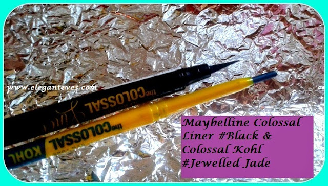 Maybelline Colossal Liner #Black and Colossal Kohl #Jewelled Jade