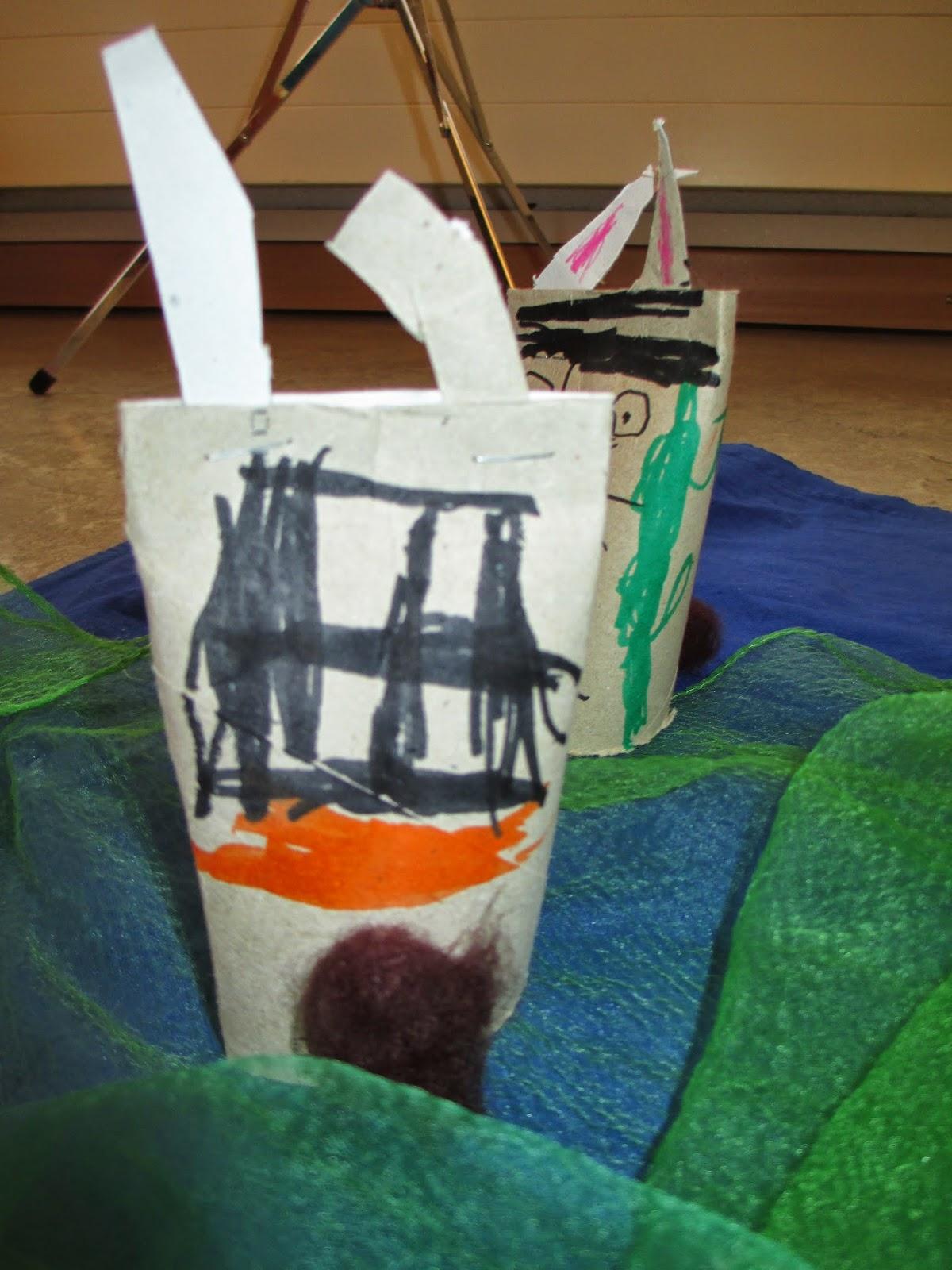 Hasen mit Kindern herstellen als Dekoration für Ostern