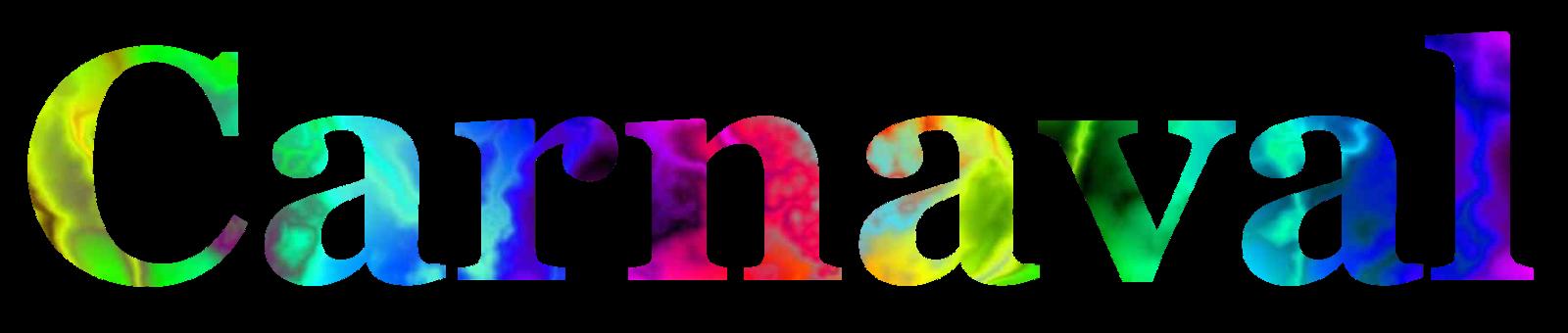 nome carnaval colorido com fundo transparente png