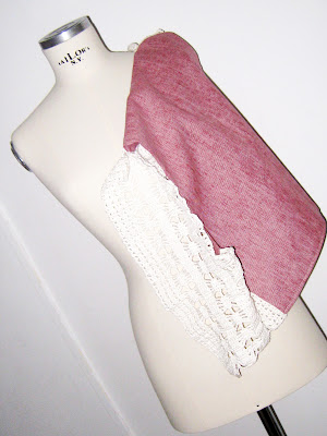 chaleco crochet y tela