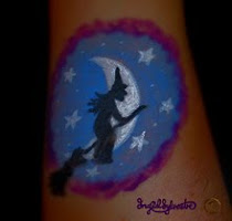 Hallowe'en Arm Paint Design