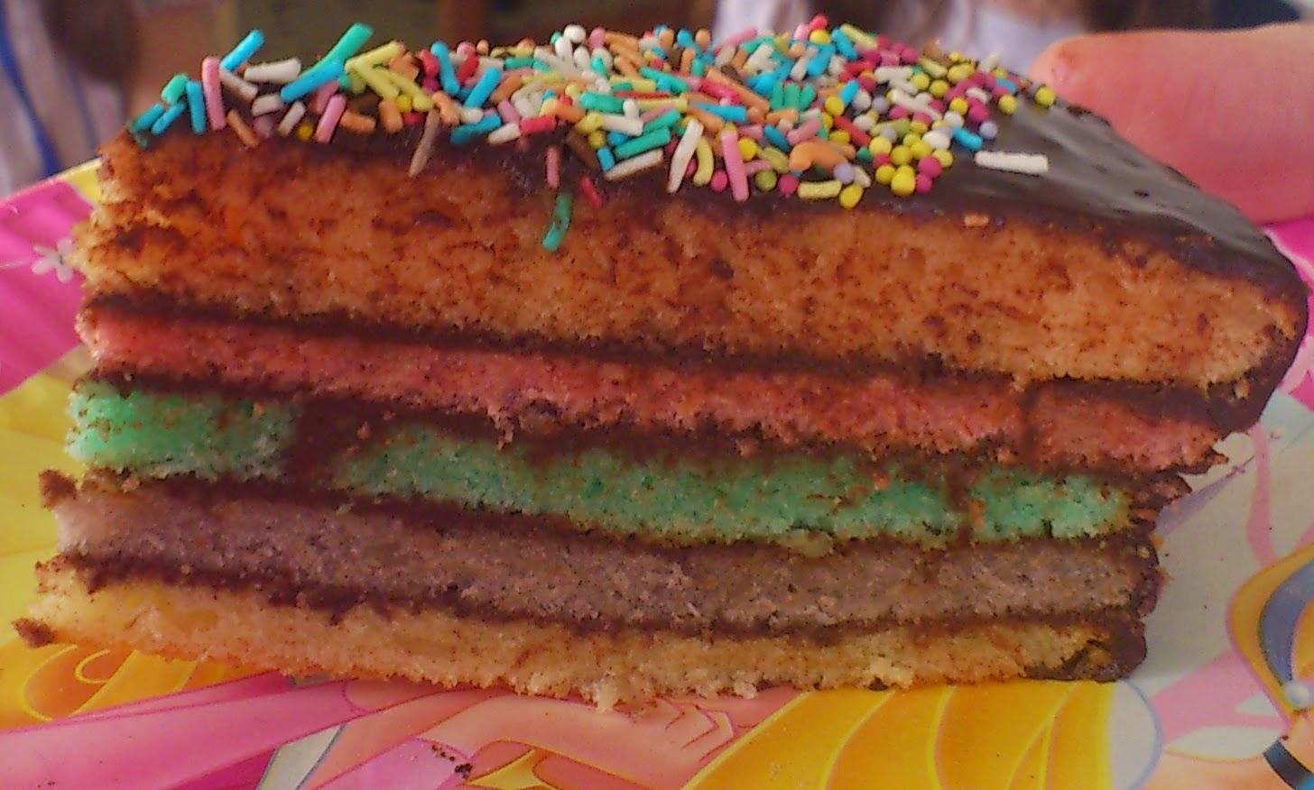 gateau gâteau rainbow cake anniversaire maman