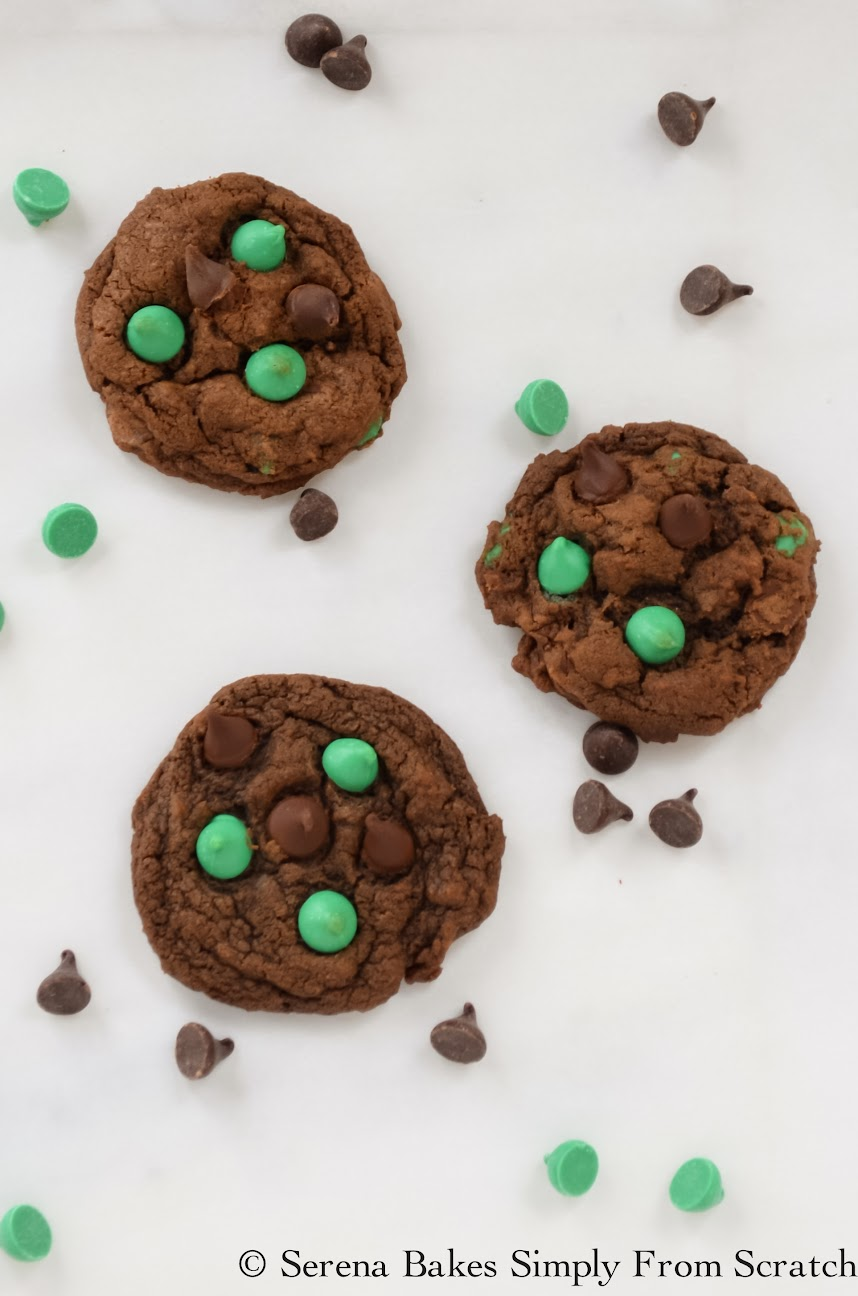 Double Chocolate Mint Chip Cookies are always a favorite.