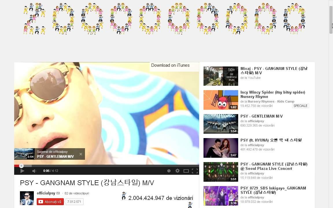 Gangam Style - 2 miliarde de vizualizări pe YouTube