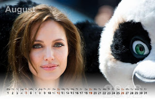 Angelina Jolie Calendar 2012 New Year 2012