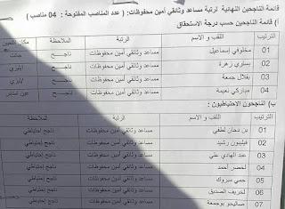 نتائج مسابقة مشرف التربية مديرية التربية لولاية اليزي 2015