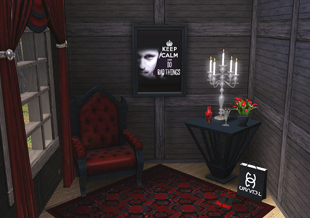 Framed picture of True Blood made for The Sims 3 game