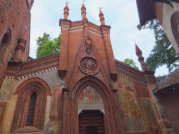 Turin Italie Pô parc parco del valentino borgo e rocca medievale