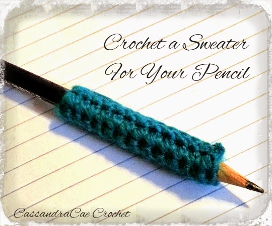 Free Crochet Pattern for Pencil Grip