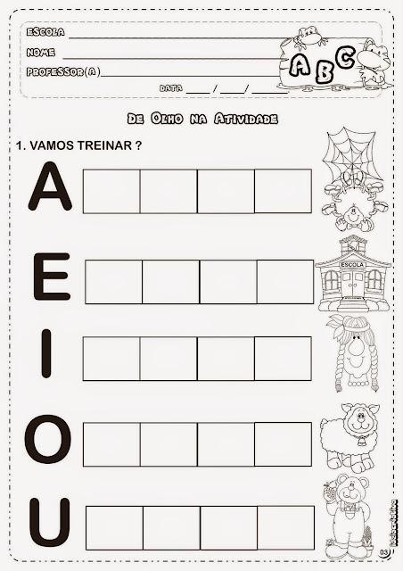 Exercícios de português 1 ano ensino fundamental