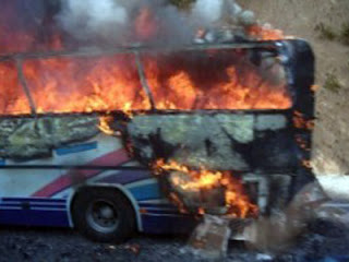 Terrorist bus bombing in Bulgaria