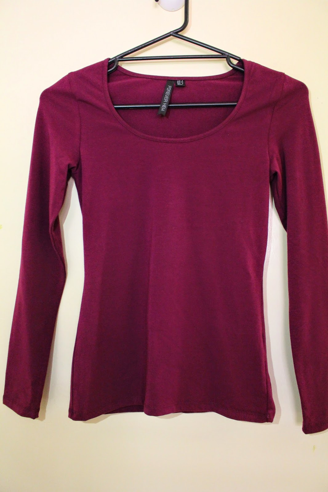layering, maroon long sleeve top