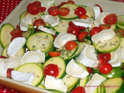 Design Flan de courgettes, tomates cerises et fromage de chèvre