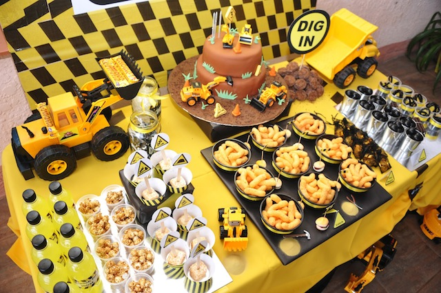 Construction Party Dessert Table
