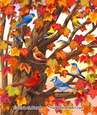 http://pixels.com/featured/maple-tree-marvel-bird-painting-crista-forest.html