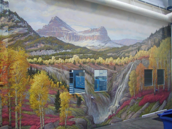 SECTION OF MURAL FOR NOVATEK INTERNATIONAL