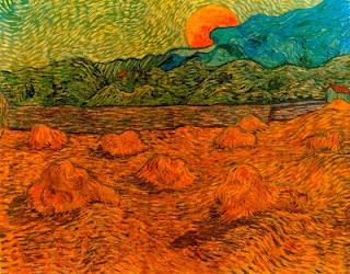 Paisatge vespertí a la sortida de la lluna (Vincent Van Gogh)
