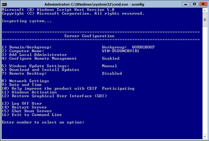 windows server activate command line