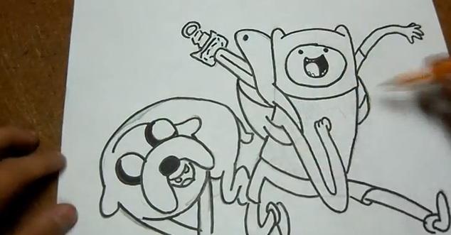 Dibujando a Finn y Jake Hora de Aventura ~ Hora de Aventura ...