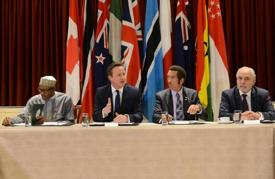 Buhari, Cameron discuss climate change and threat of global extremism at CHOGM