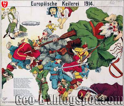 Europäische Keilerei 1914