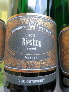 Wegeler Sweet Riesling 2012 - VDP Gutswein, Mosel, Germany (89 pts)