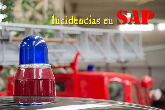 Incidencia SAP