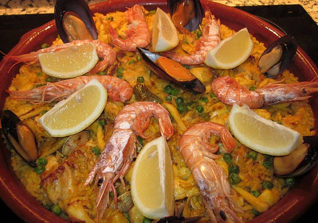 Recetas de marisco paella de marisco - Paella de pescado ...
