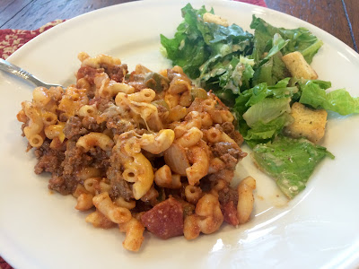 Food Therapy's Skillet Beef and Macaroni