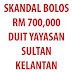 EKSKLUSIF ... NIK AZIZ Subahat BOLOS SUMBANGAN RM 700,000  Yayasan Sultan Kelantan?!