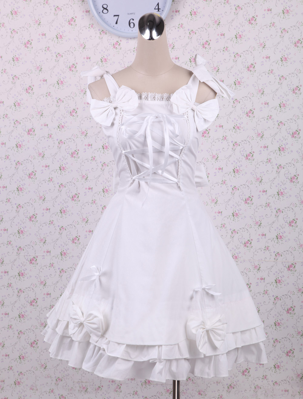 White Bow Sweet Lolita Dress