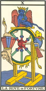Arcano 10: Roda do Destino/Fortuna, carta do tarô, tarot, baralho de marselha