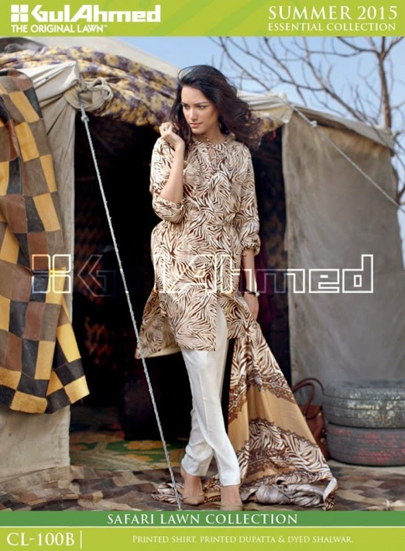 Safari Lawn Summer Collection by Gul Ahmed 2015 6
